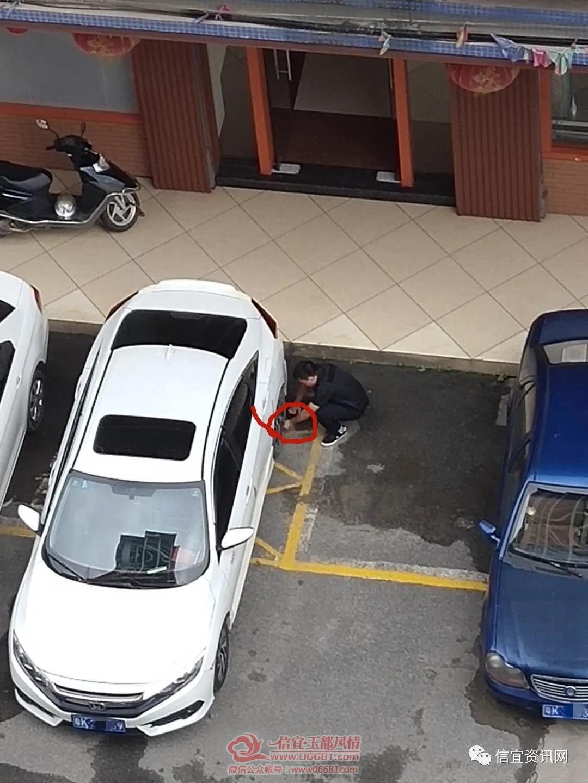 信宜继路边停车贴白条,拿围栏霸占车位后再放气!